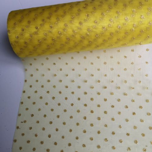 Sparkle Organza Golden Yellow  j1 / 16 10Y